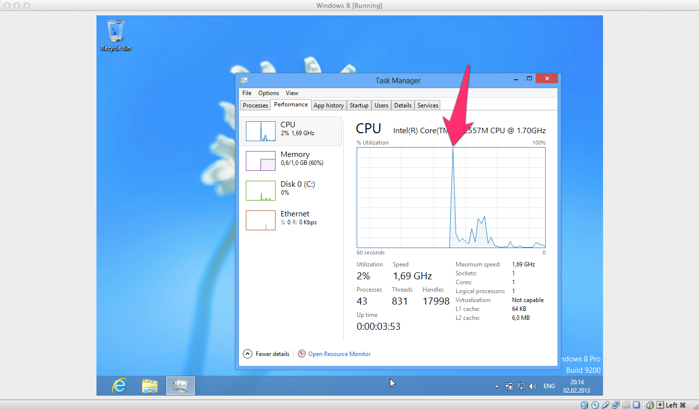 Task manager CPU